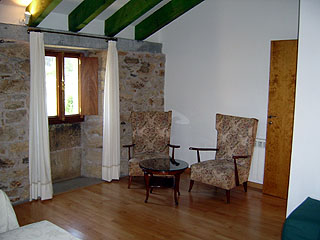 Sitting area in bedroom