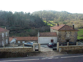 Front view of Pazo. At the far end is Casa Antelo 5